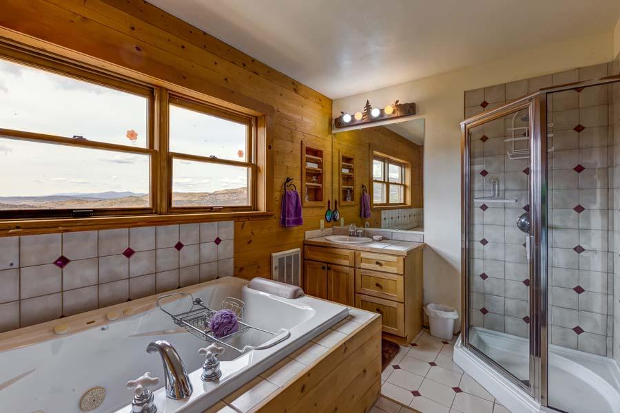 Master bathroom at 31350 Deerwood Ranch Rd, Oak Creek, CO 80467