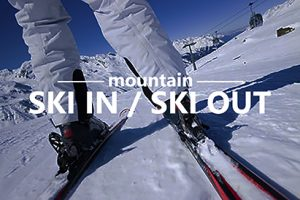 Image of skier for Ski In Ski out homes is Steamboat Springs, CO