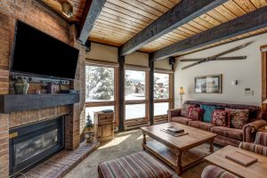 Living room of 2700 Village Drive, B206, Steamboat Springs, CO