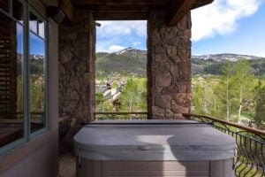 Hot Tube at 1495 Eagle Glen Drive, Unit D1 Steamboat Springs, CO