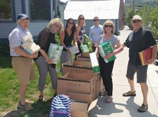 SSIR give School Supplies to the United Way