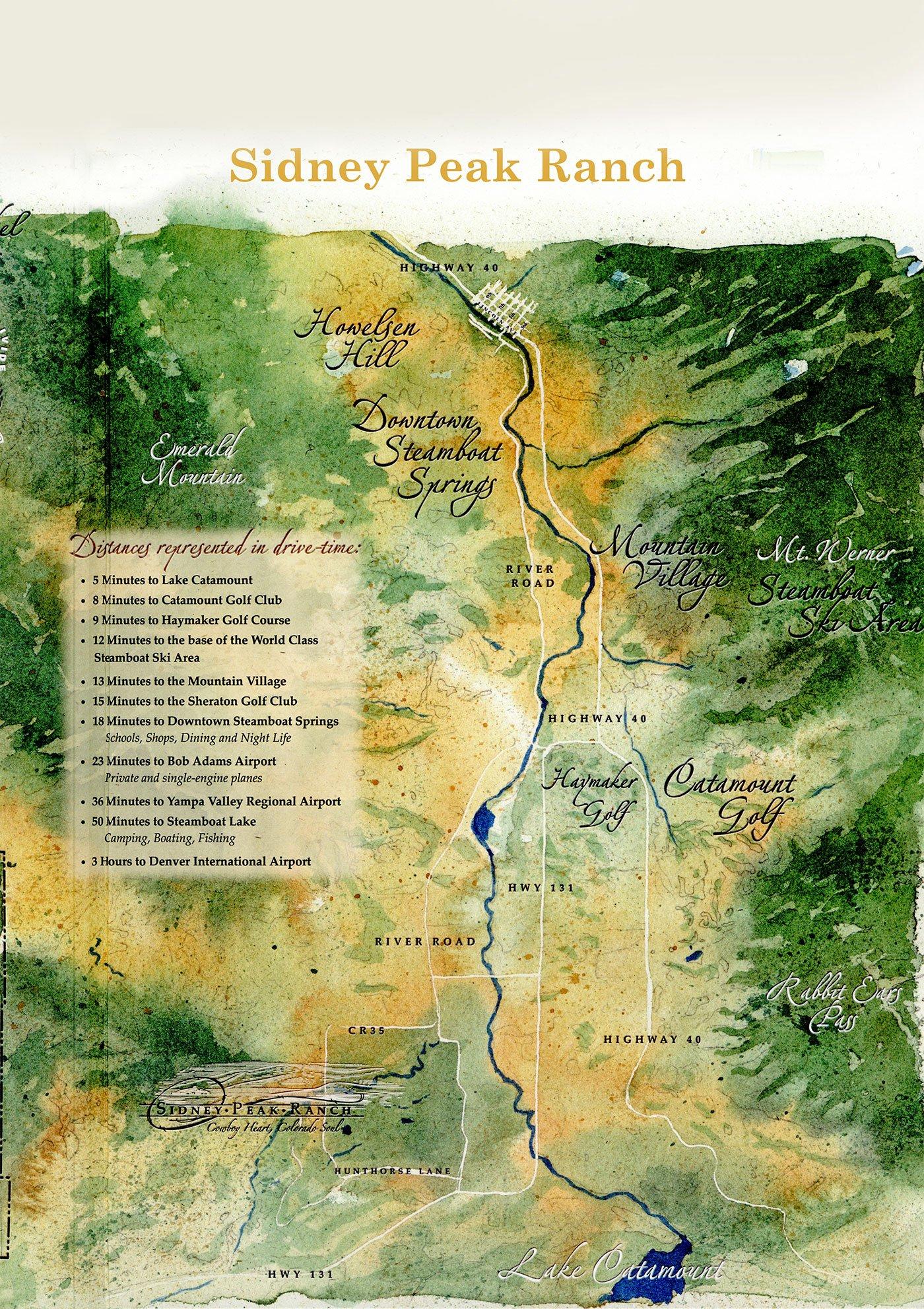 Sidney Peak Ranch Map