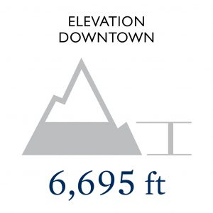 Elevation Downtown: 6,695 feet
