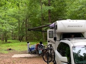 First Time RV - awning