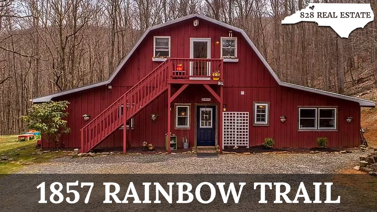 Converted horse barn home at 1857 Rainbow Trail in Boone, NC