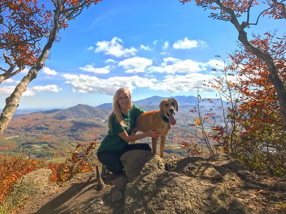 Sara Weatherholtz & Helix on Beech Mountain in North Carolina.