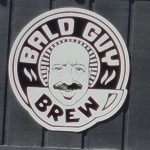 Bald Guy Brew coffee shop logo in Boone, NC.