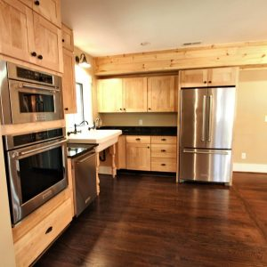 Newly renovated open kitchen in Valle Crucis home on Crab Orchard Creek.