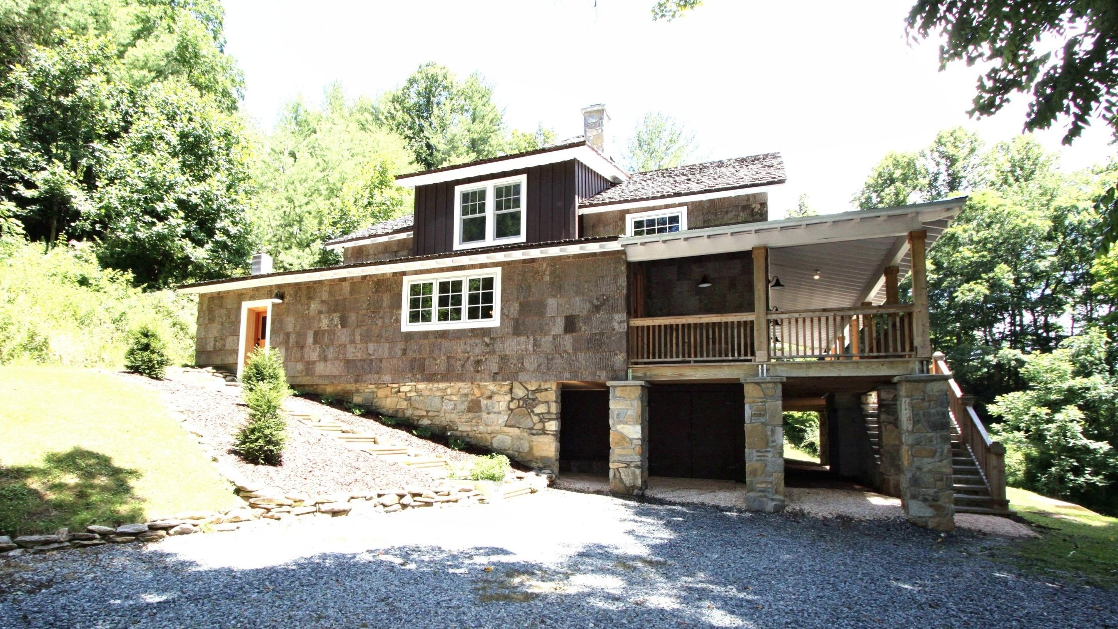 Valle Crucis restored home on Crab Orchard Creek.