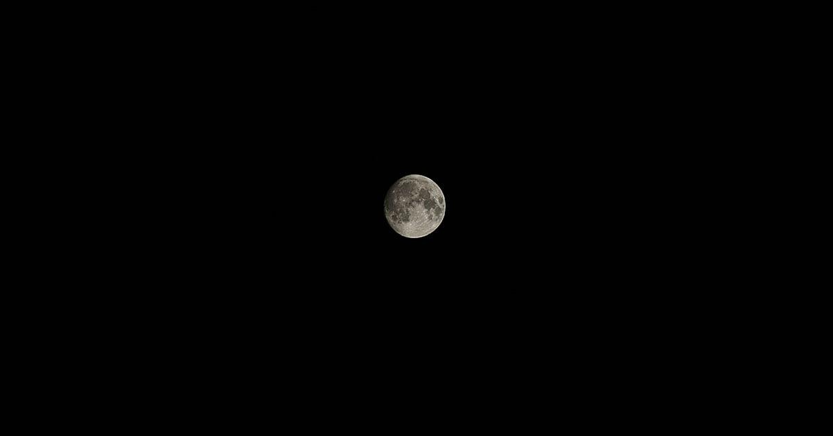 Moon over Boone, North Carolina at night.