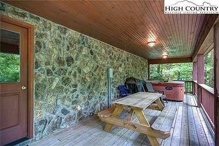 Outdoor Living Area at 175 Payton Lane in Banner Elk, NC