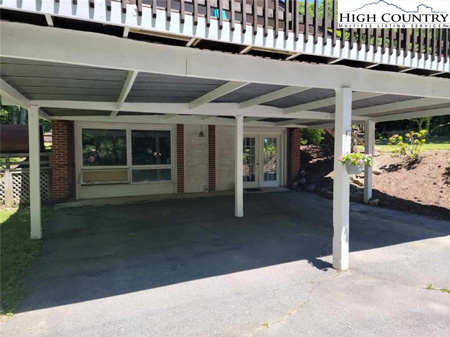 Covered carport and separate apartment entrance for sale in Boone, NC
