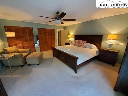 Master bedroom inside home for sale in Boone, NC