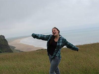 Appalachian State University student studying abroad in Ireland.