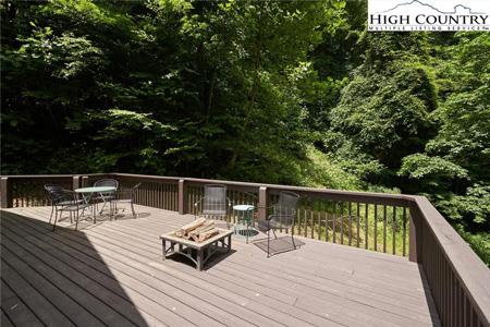 Deck overlooking trees