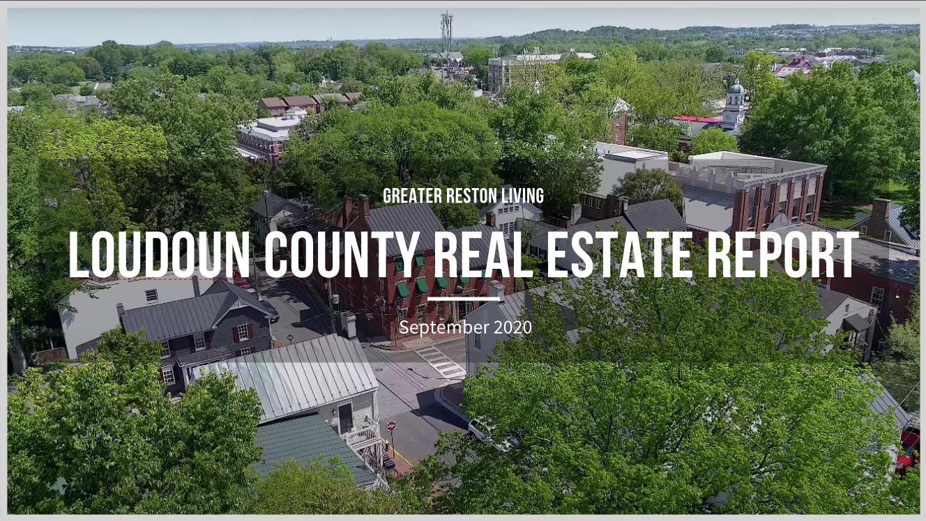 Loudoun County Real Estate Market Report for September 2020