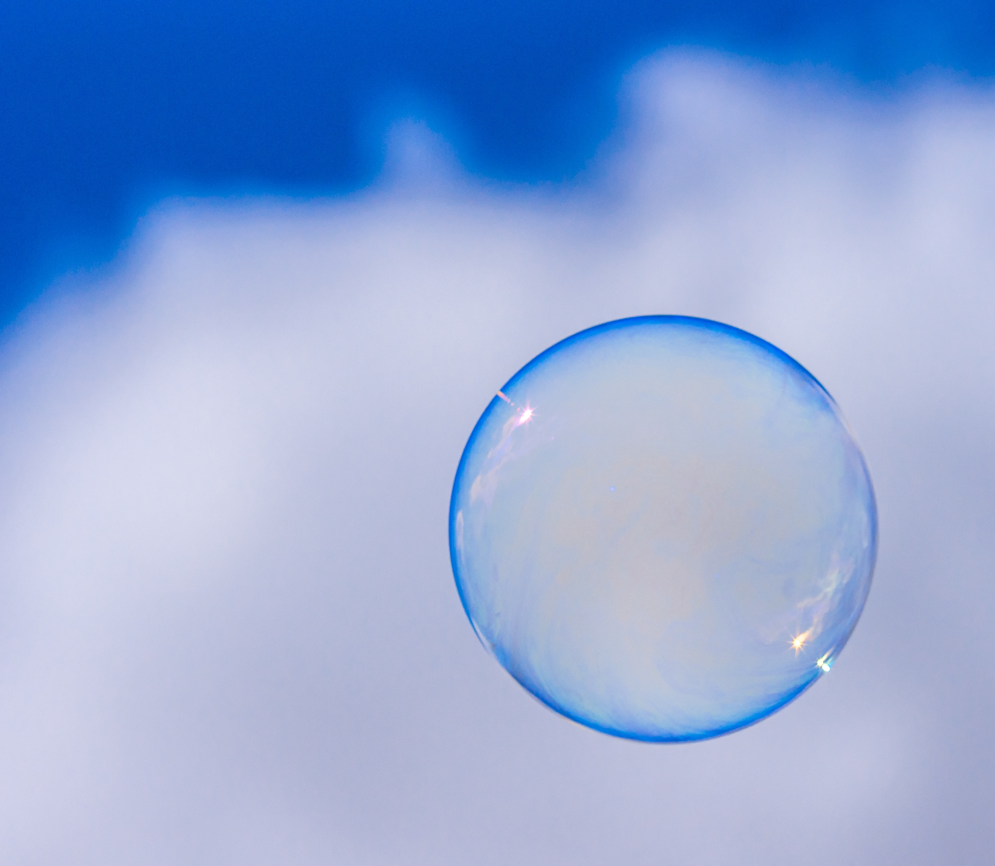 bubble floating through the sky