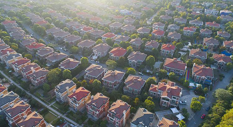Villa buildings at Shanghai Pudong,China