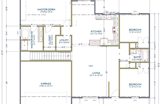 61 Thistledown Lane Floor Plan