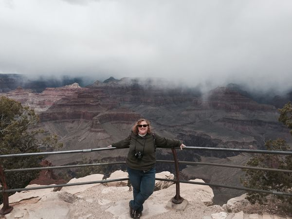 Jamie at South Rim of Grand Canyon