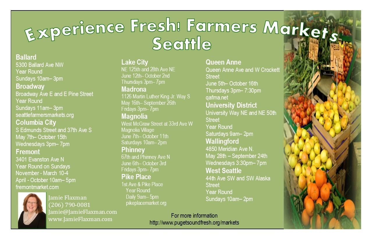 Farmer's Market Seattle