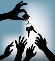 Multiple-Offer-Blue-Hands-House-Key
