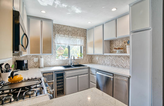 Kitchen with matching appliances.
