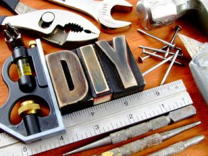 Rustic and vintage do it yourself used tool background