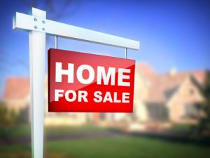 Home for Sale on background