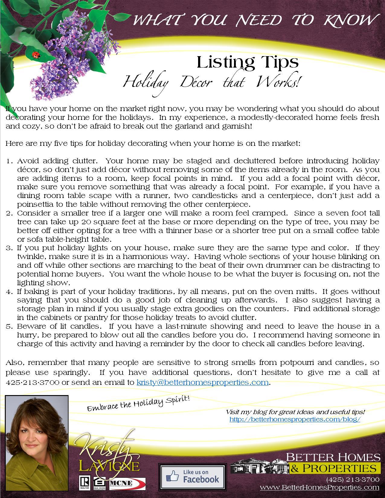 Holiday Decor Listing Tips