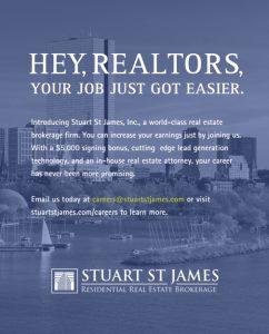Stuart St James Hiring Boston Real Estate Agents