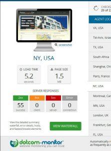 Real Estate Website Speed Test Before