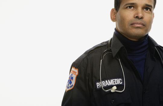 male paramedic community hero progra