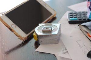 measuring tape cell calculator messy desk