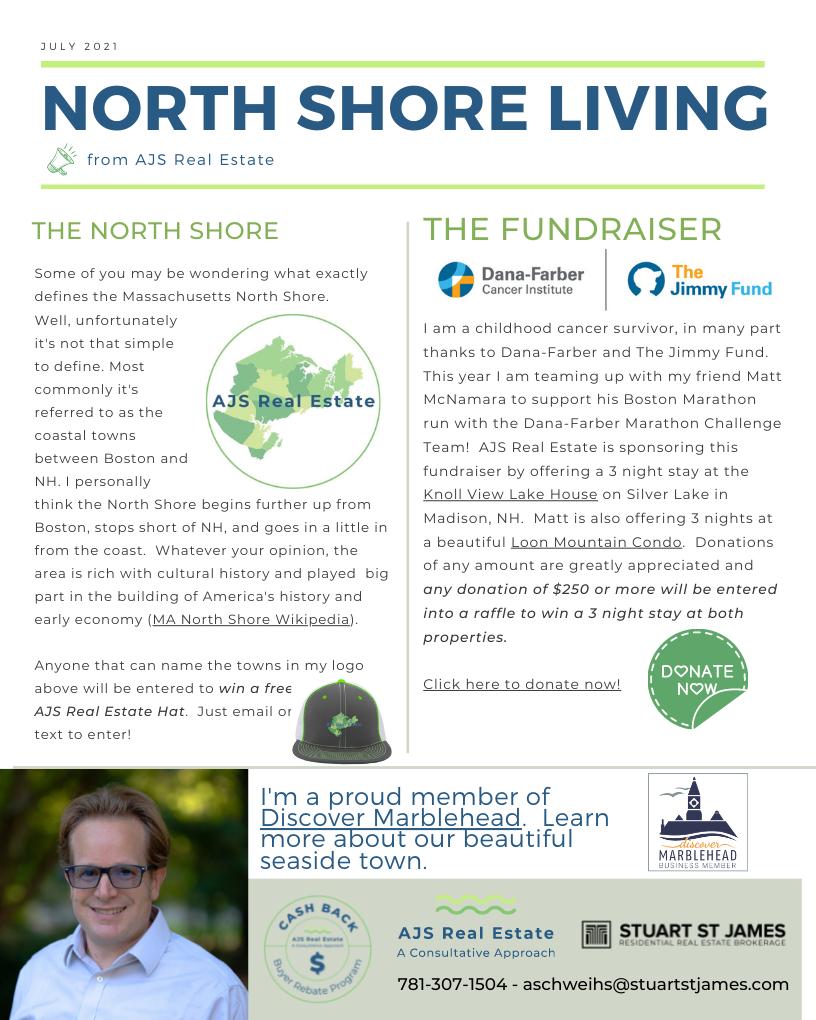 North Shore Living – July Newsletter
