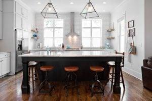 Tile backsplash feature wall. Home Design 2019