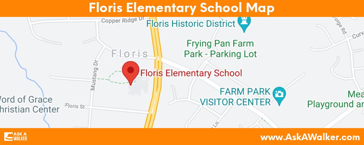 Map of Floris Elementary School