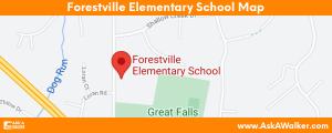 Map of Forestville Elementary School
