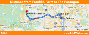 Distance from Franklin Farm to The Pentagon