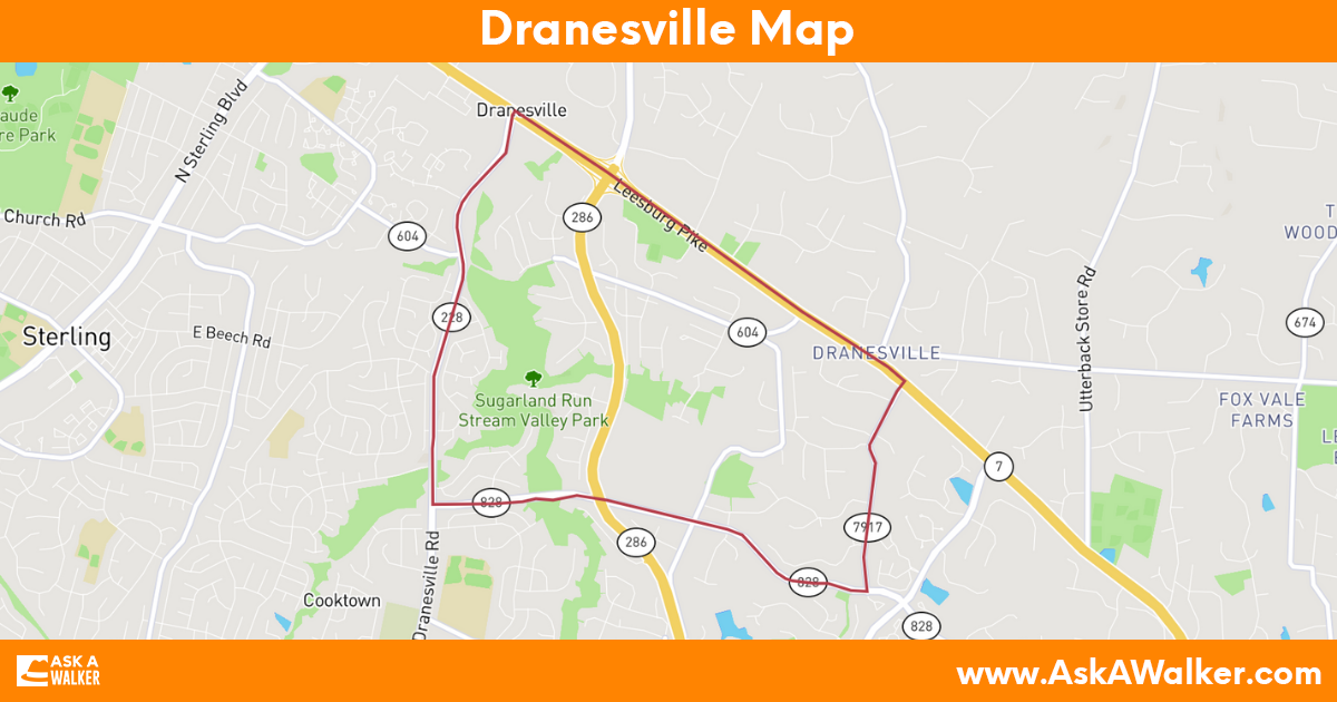 Map of Dranesville