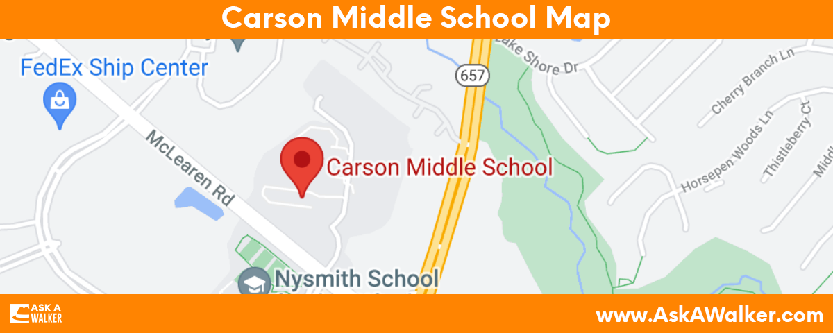 Map of Carson Middle School