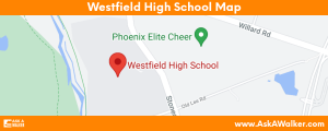 Map of Westfield High School