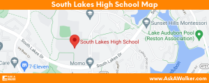 Map of South Lakes High School