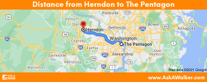 Distance from Herndon to The Pentagon