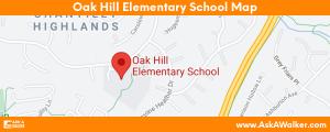 Map of Oak Hill Elementary School