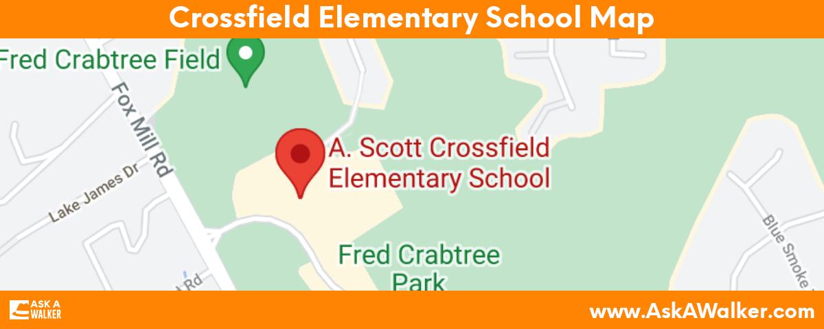 Map of Crossfield Elementary School