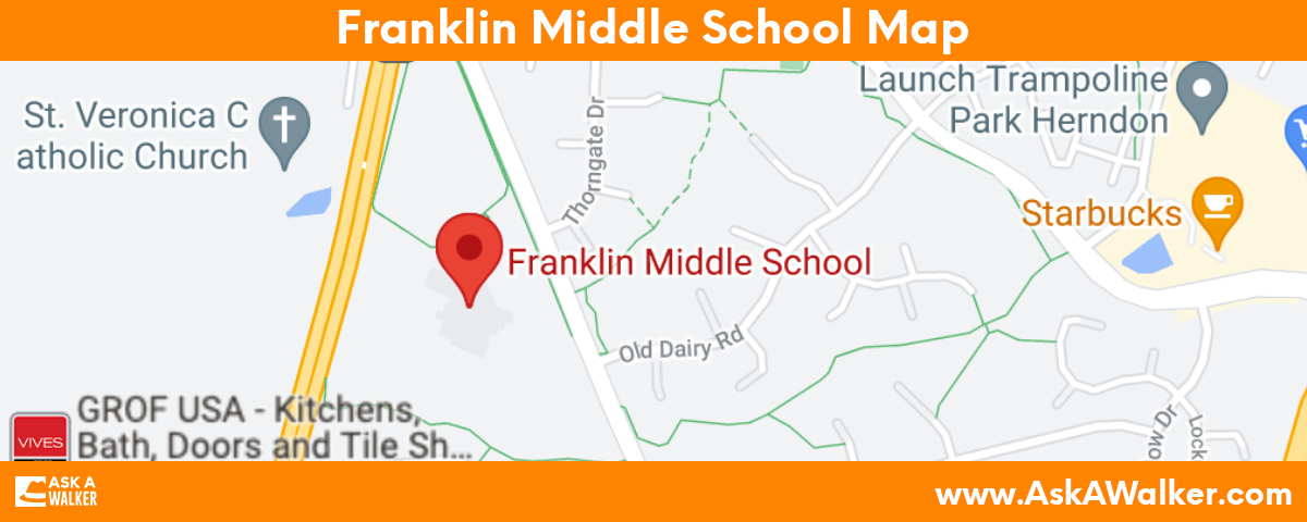 Map of Franklin Middle School