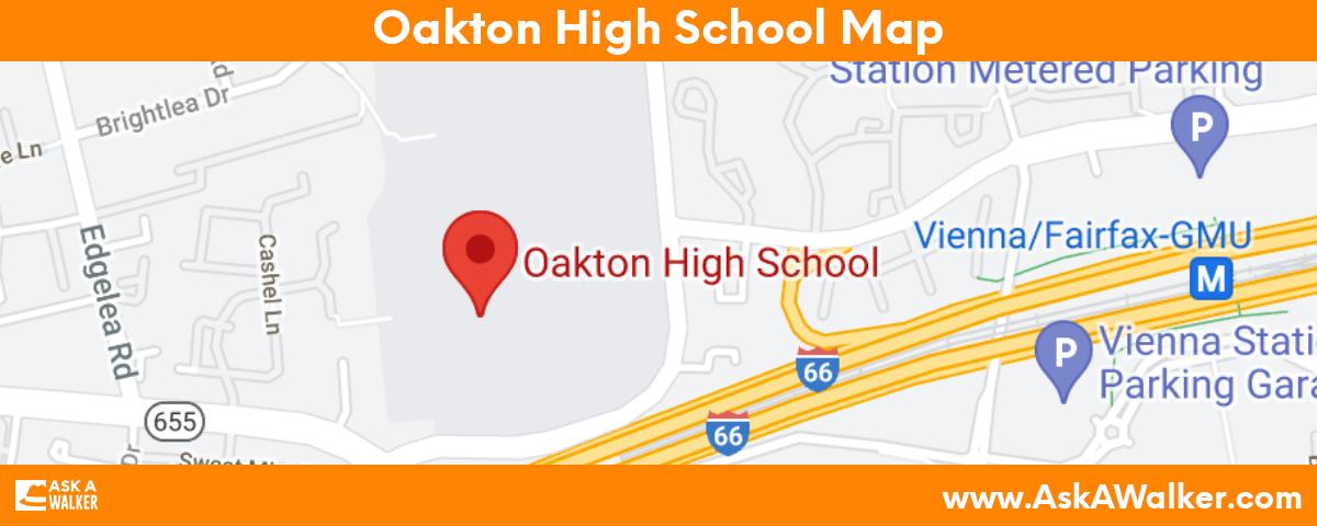 Map of Oakton High School