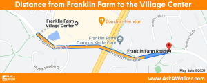 Distance from Franklin Farm to Franklin Farm Village Center
