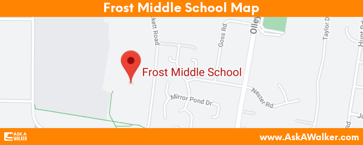 Map of Frost Middle School